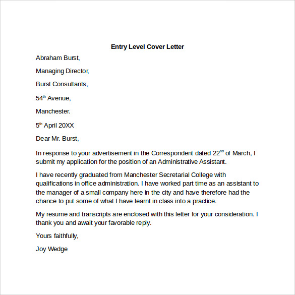 how to write a letter of application