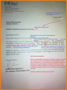 how to write a letter of application infosys offer letter