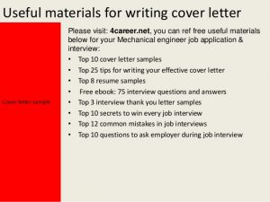 how to write a letter of application mechanical engineer cover letter