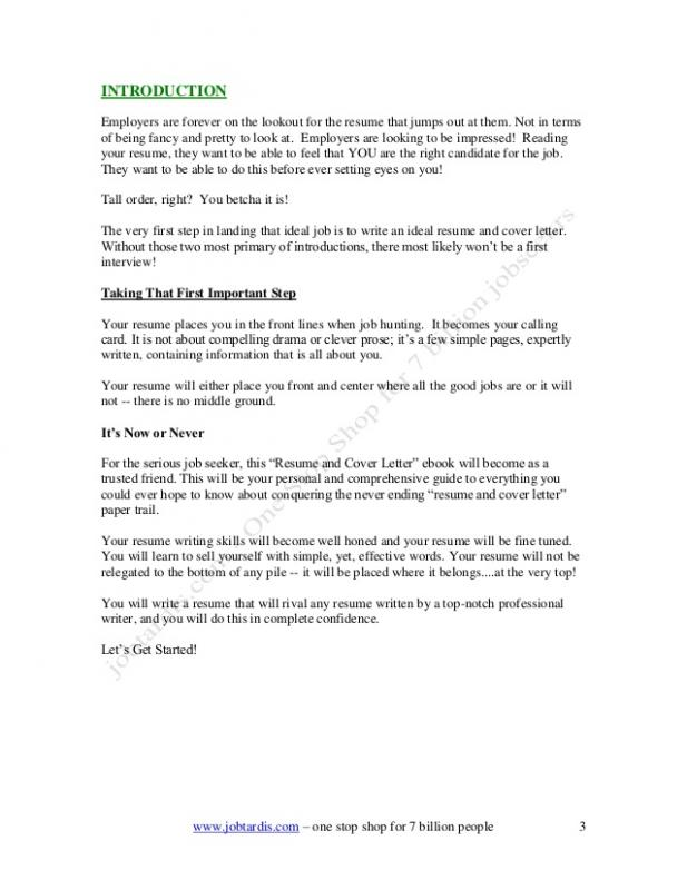 How to Write a Cover Letter Example
