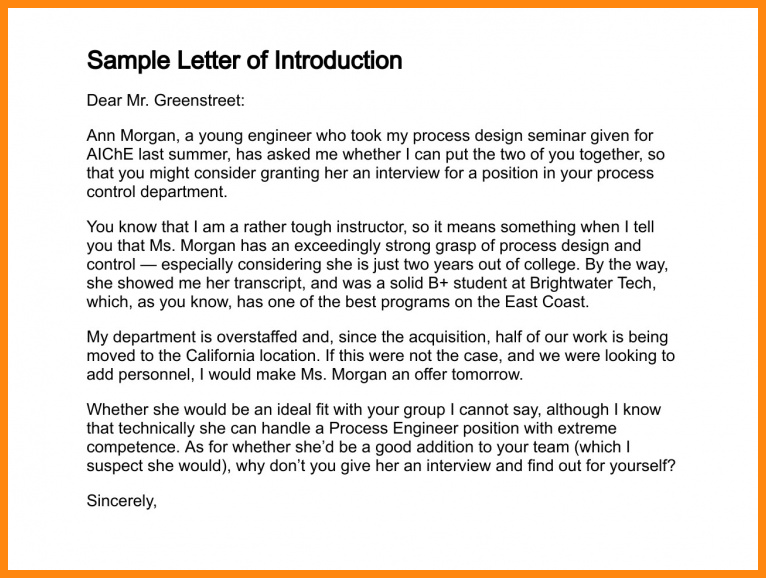 how to write a letter of introduction for a job