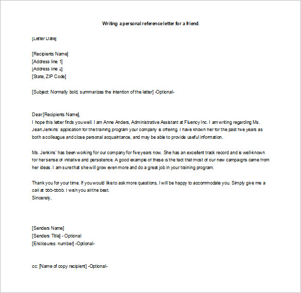 writing a recommendation letter how to write a letter of recommendation for a friend 21129