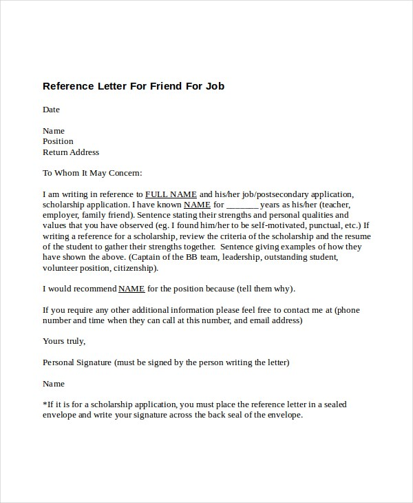 recommendation letter for a friend how to write a letter of recommendation for a friend 49792