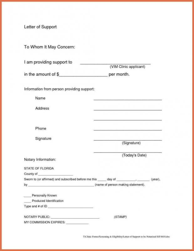 How To Write A Notarized Letter  Template Business