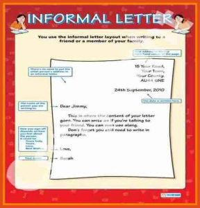 how to write a personal letter informal letter format of a informal letter informal letter writing