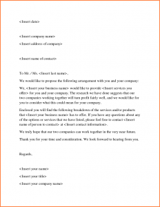 How To Write A Proposal Letter Template Business