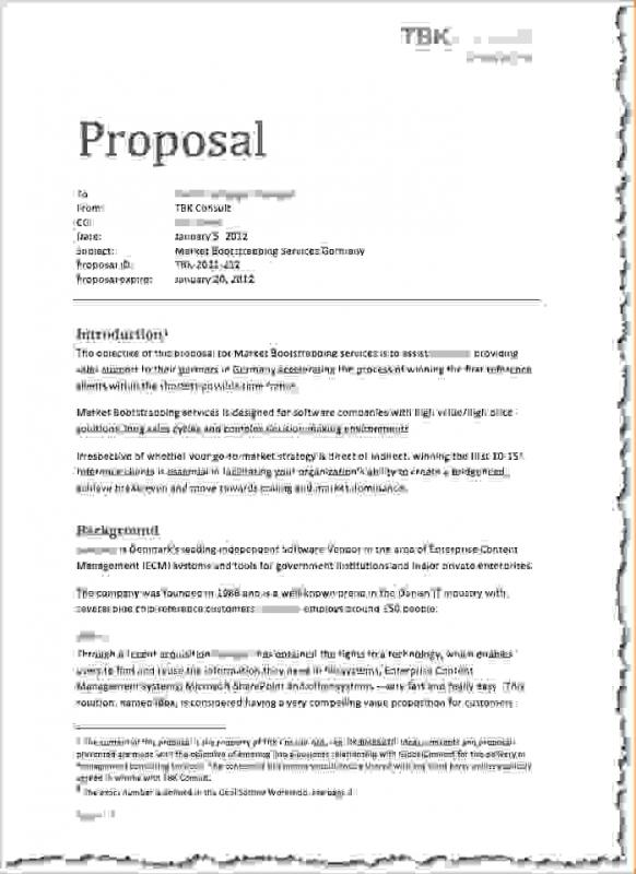 how to write a proposal letter