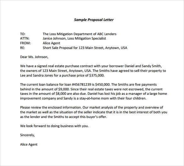 Proposal Letter Formal Proposal Letter Format Sample Formal