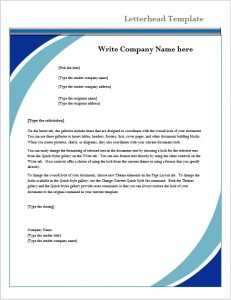 how to write a reference letter for someone letterhead template