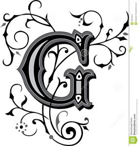 how to write a referral letter beautiful ornament letter g ornate english alphabets grayscale