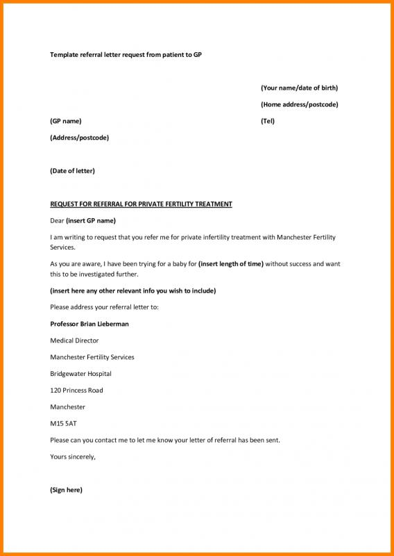 How To Write A Referral Letter | Template Business