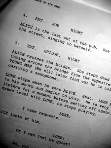 how to write a script format screenwriting cover