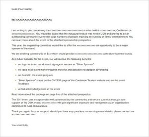 how to write a sponsorship letter sponsorship letter templates free sample example format