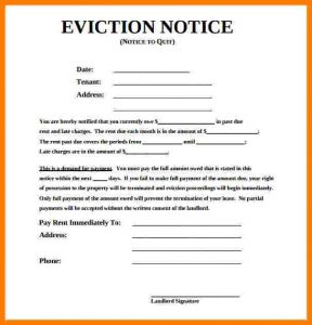 how to write an eviction notice how to write an eviction notice free sample eviction notice form