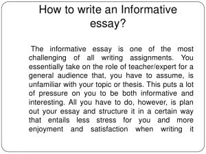 how to write an informative essay how to write an informative essay