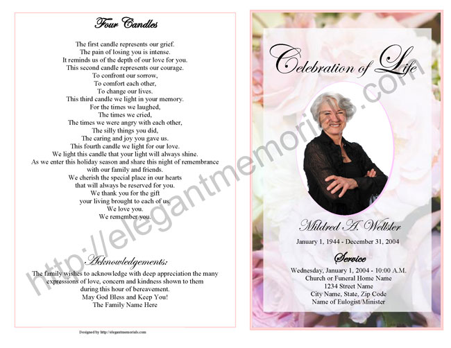 death program templates - how to write an obituary for mother template business