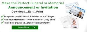 how to write an obituary sample funeral announcement invitation banner