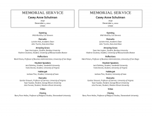how to write an obituary sample memorial service program template