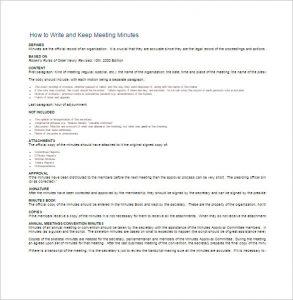 how to write meeting minutes how to write and keep meeting minutes