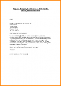 how to write recommendation letter how to write a letter of recommendation for an employee request company for reference on potential employee sample letter