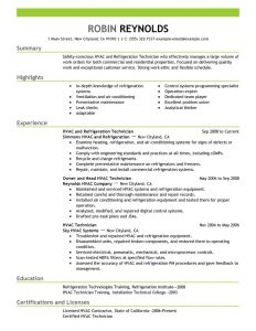 hvac resume samples hvac technician resume getessaybiz