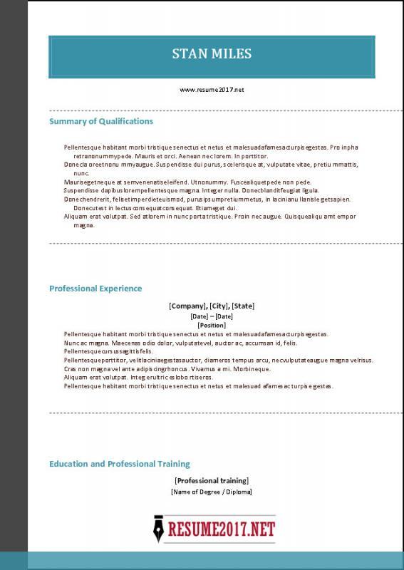 hybrid resume template