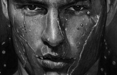 hyper realistic drawing wet man water realistic pencil drawing by vengeance