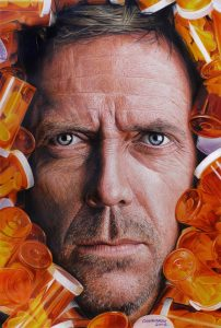 hyper realistic drawing housemd nestor canavarro