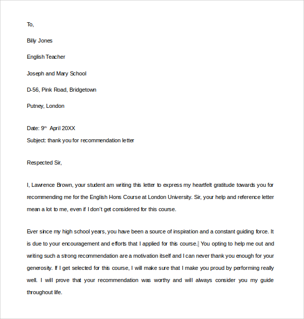 immigration letter of support