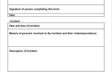 incident report template word employee incident report templates free pdf word documents intended for incident report form template word