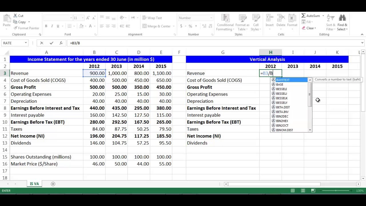 Income statement template excel template business for Multi step income statement excel template