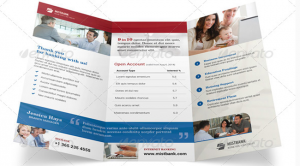 indesign brochure templates free bank brochure