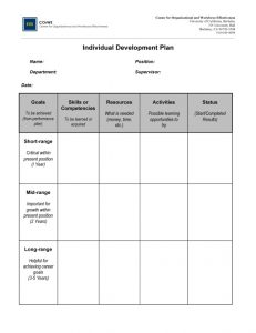 individual development plan individual development plan x