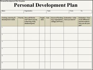 individual development plan personal development plan