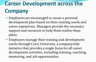 individual development plans sample cisco career development