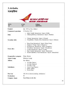 industry analysis template aviation industry analysis