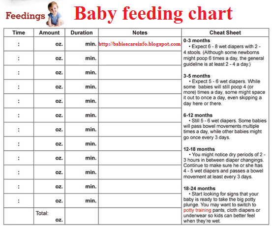 infant feeding schedule