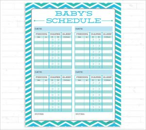 infant feeding schedule printable baby feeding schedule instant download