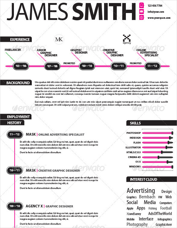 Infographic resume template word pasoevolist infographic resume template word yelopaper Image collections