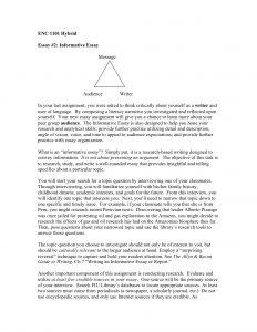 informative essay example informative essay