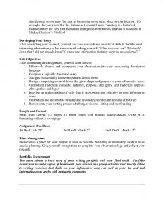 informative essay example informative essay unit assignment page