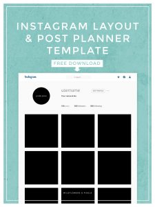 instagram post template instagram layout post planner template