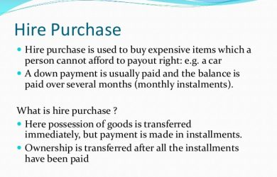 installment payment agreement hire purchase