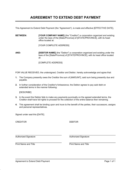 Installment Payment Agreement Template Template Business