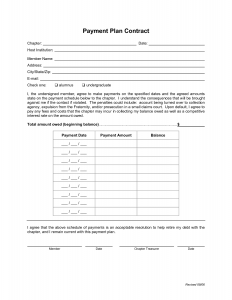 installment payment agreement template payment plan agreement form template