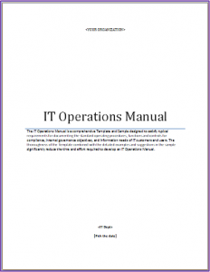 instruction manual example it operations manual template
