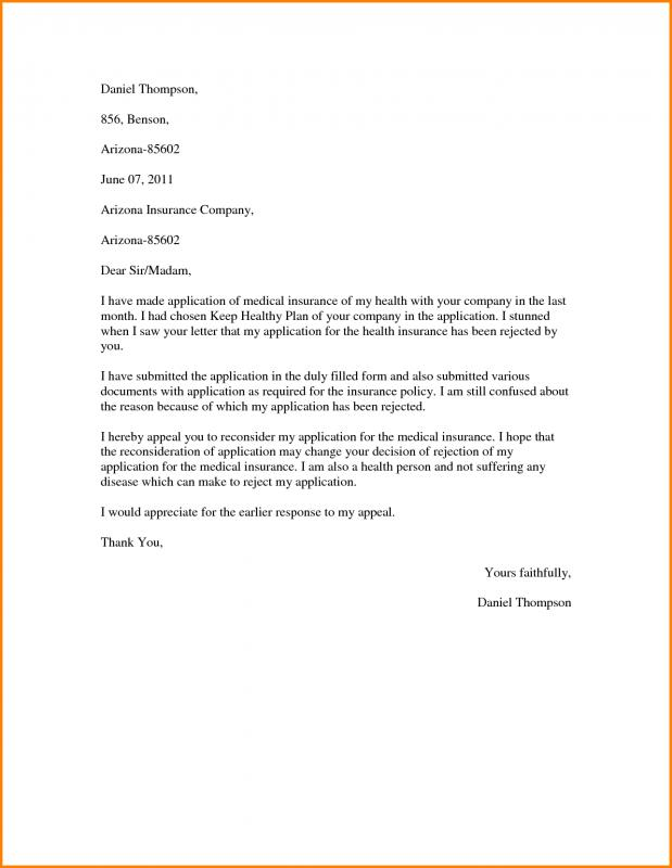 Insurance appeal letter template business insurance appeal letter thecheapjerseys Image collections