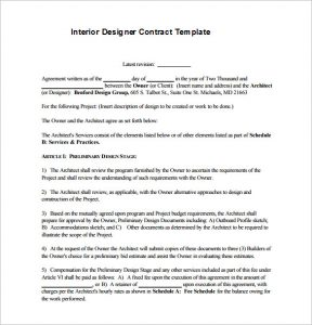 interior design contract basic interior designer contract template pdf download
