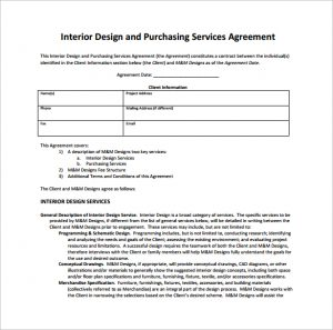 interior design contract interior design and purchasing services contract pdf free download