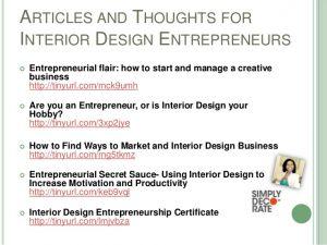 interior design proposal entrepreneurship for interior designers
